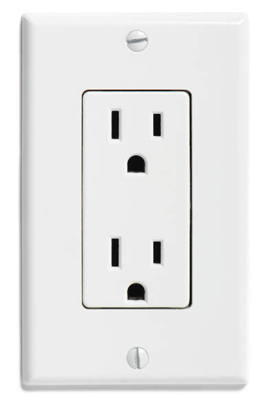 north american electrical socket - electrical outlet stock photos and pictures