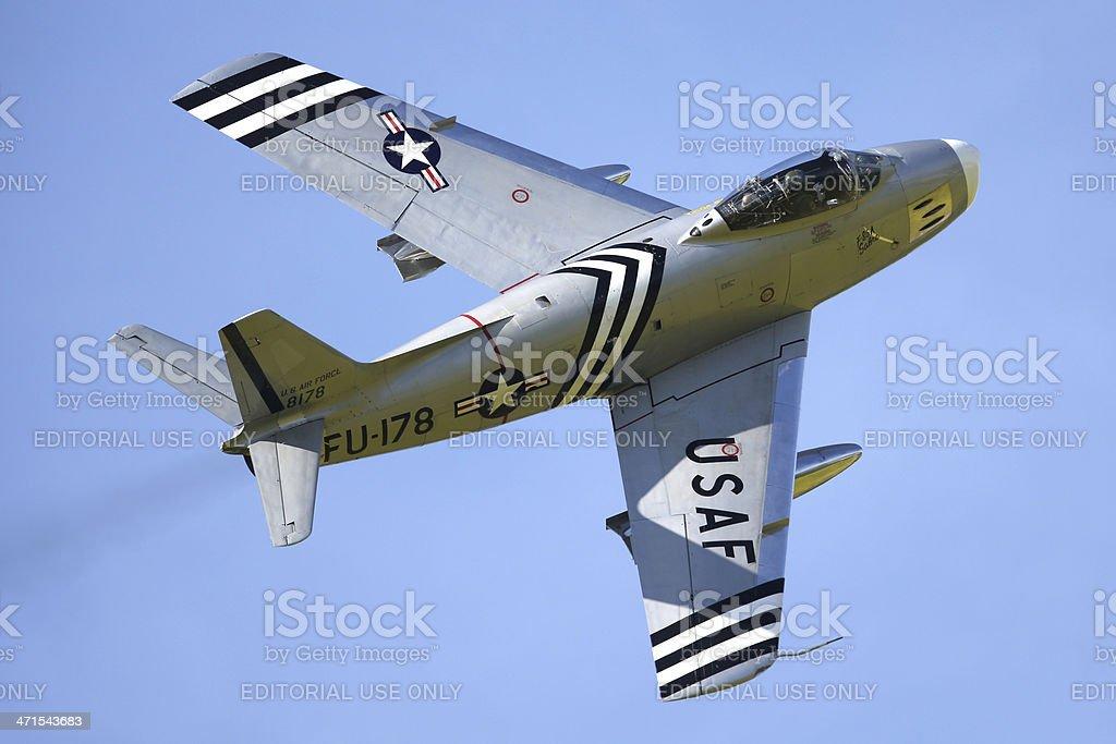 North American F-86 Sabre royalty-free stock photo