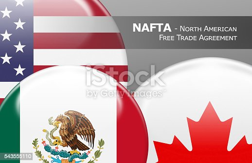 istock NAFTA - North American Free Trade Agreement 543555110