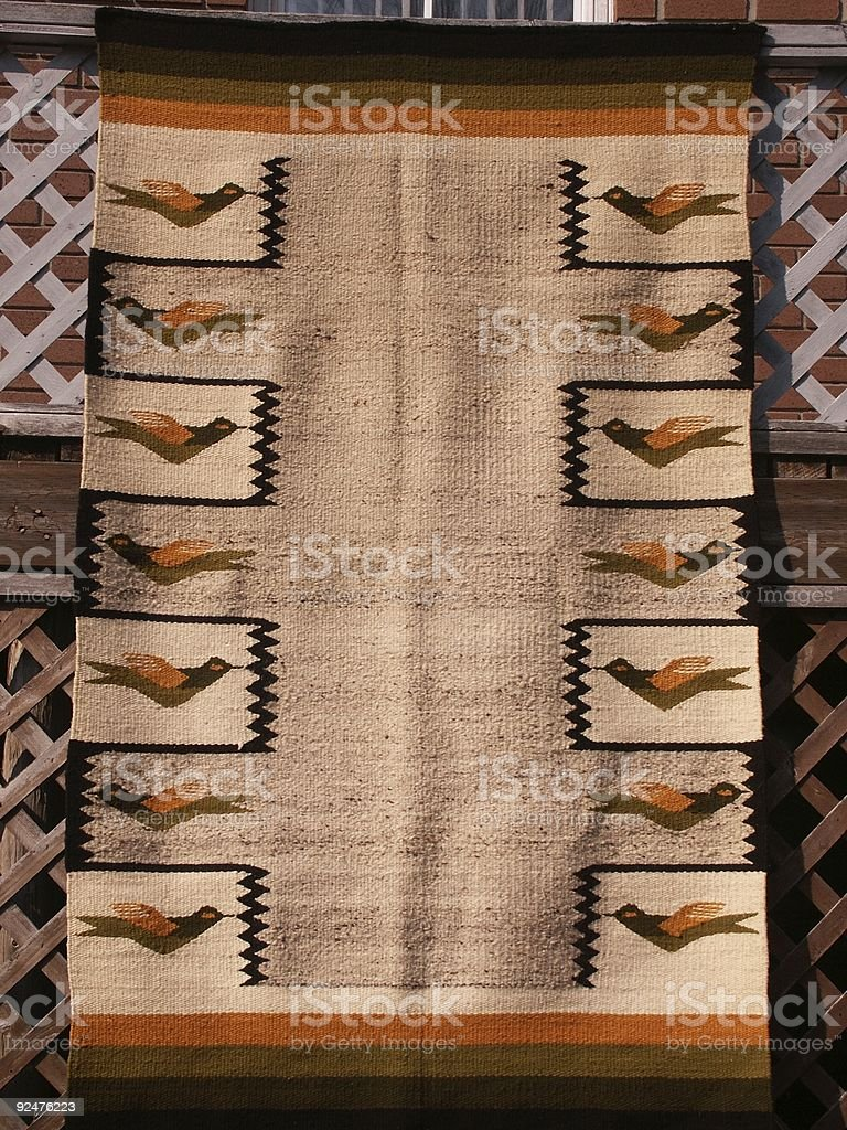 North American Native Woven Blanket royalty-free stock photo