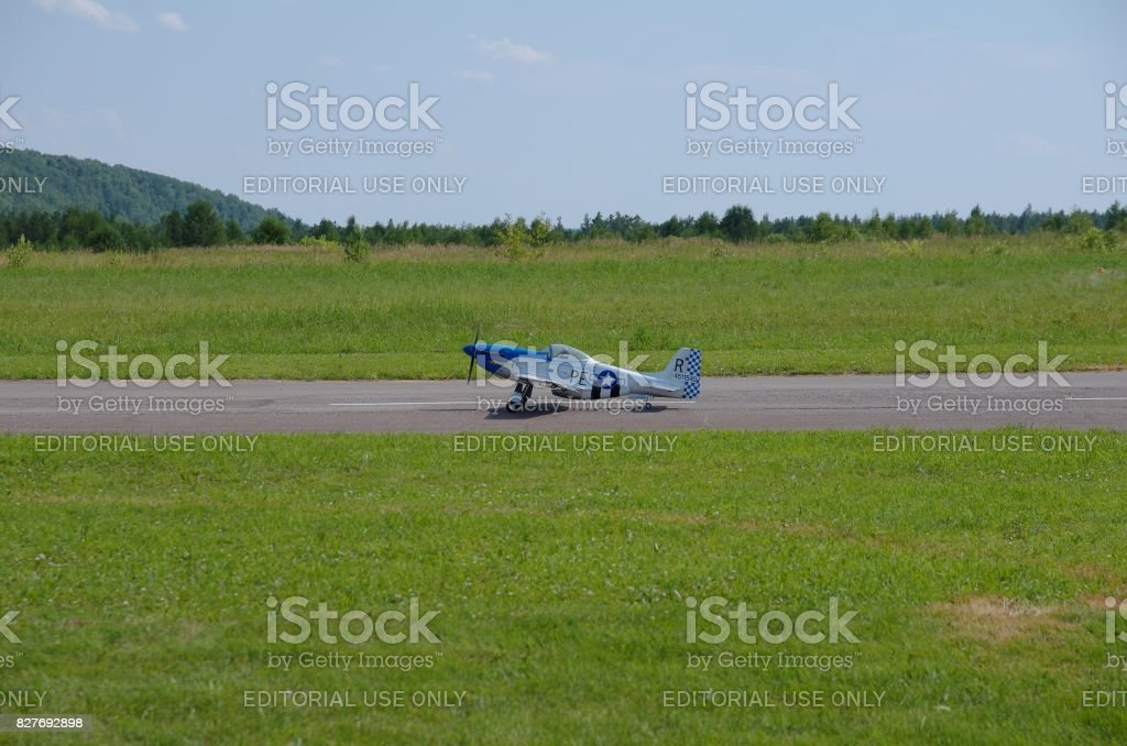 North American P-51 Mustang stock photo