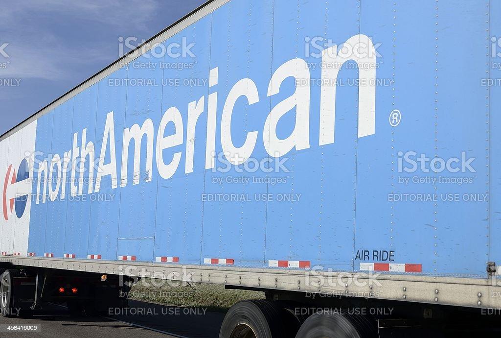 north American Van Lines stock photo