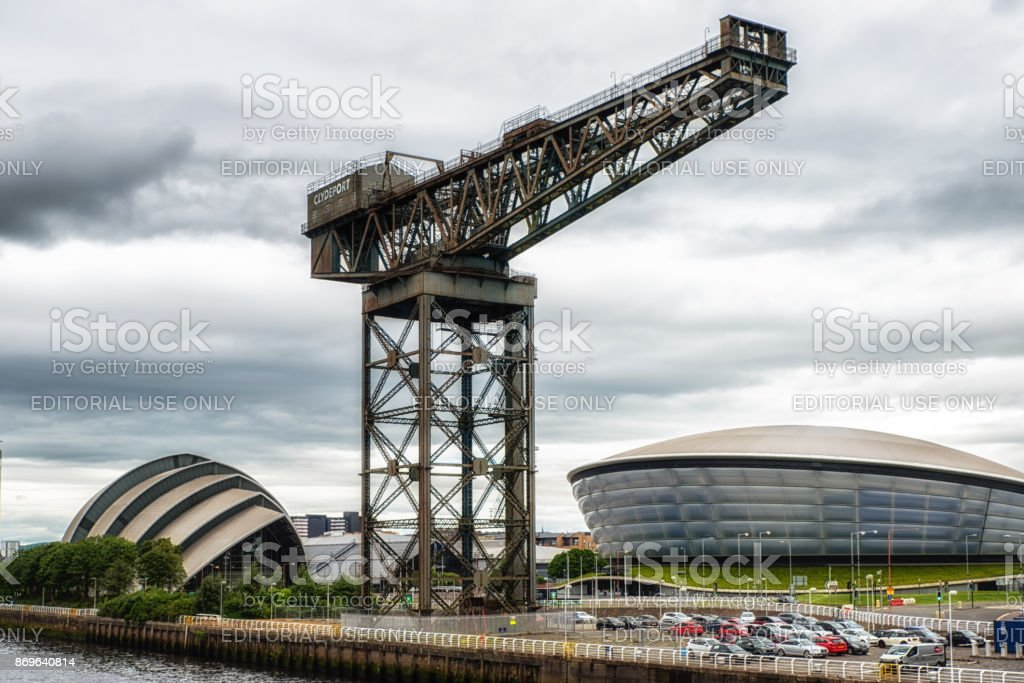 North Bank of the River Clyde, Glasgow, UK stock photo