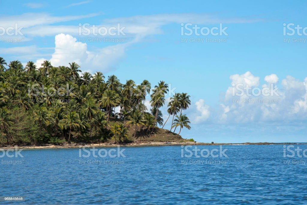 North Bay beach as seen from ferry from Aberdeen jetty, Andaman Islands stock photo