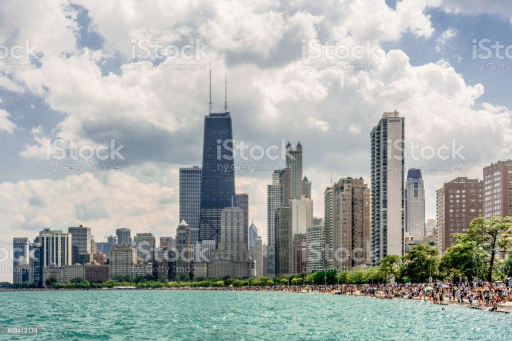 North Beach - Chicago stock photo