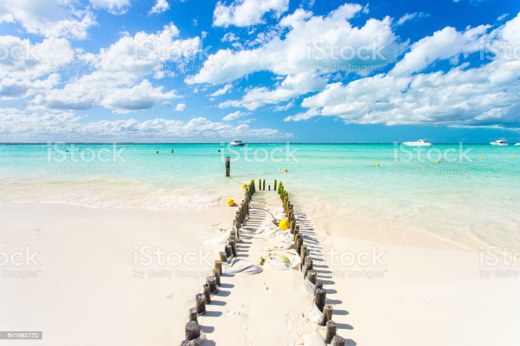 North Beach on Isla Mujeres, Cancun, Mexico stock photo