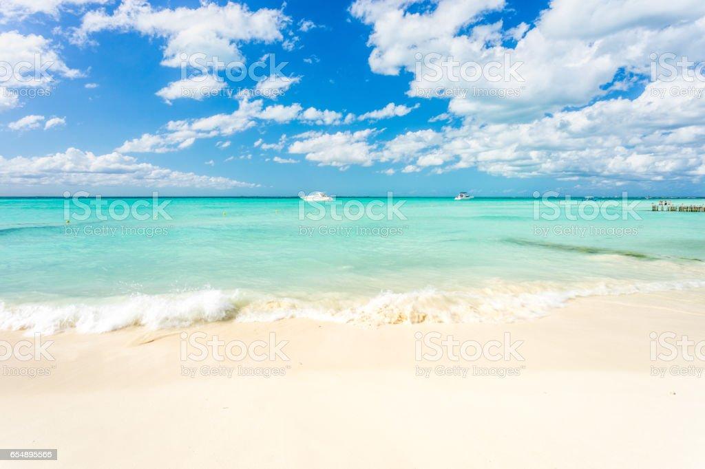 North Beach on Isla Mujeres, Cancun, Mexico stock photo