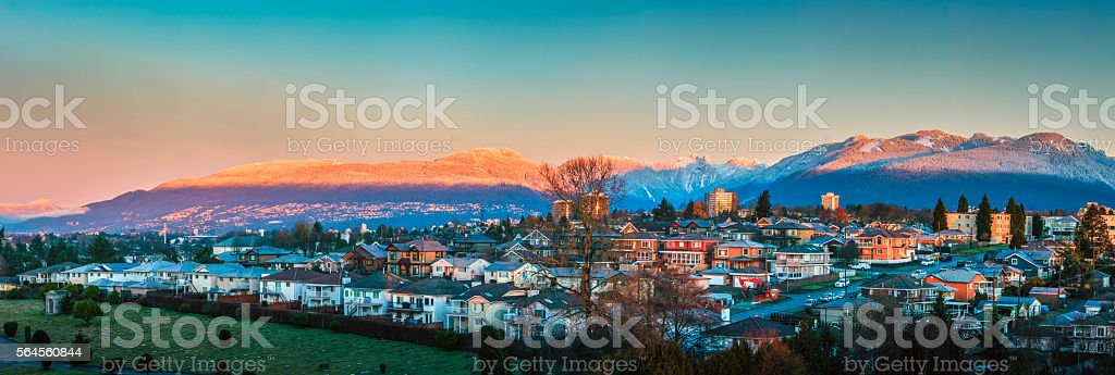 North Burnaby at Dawn stock photo