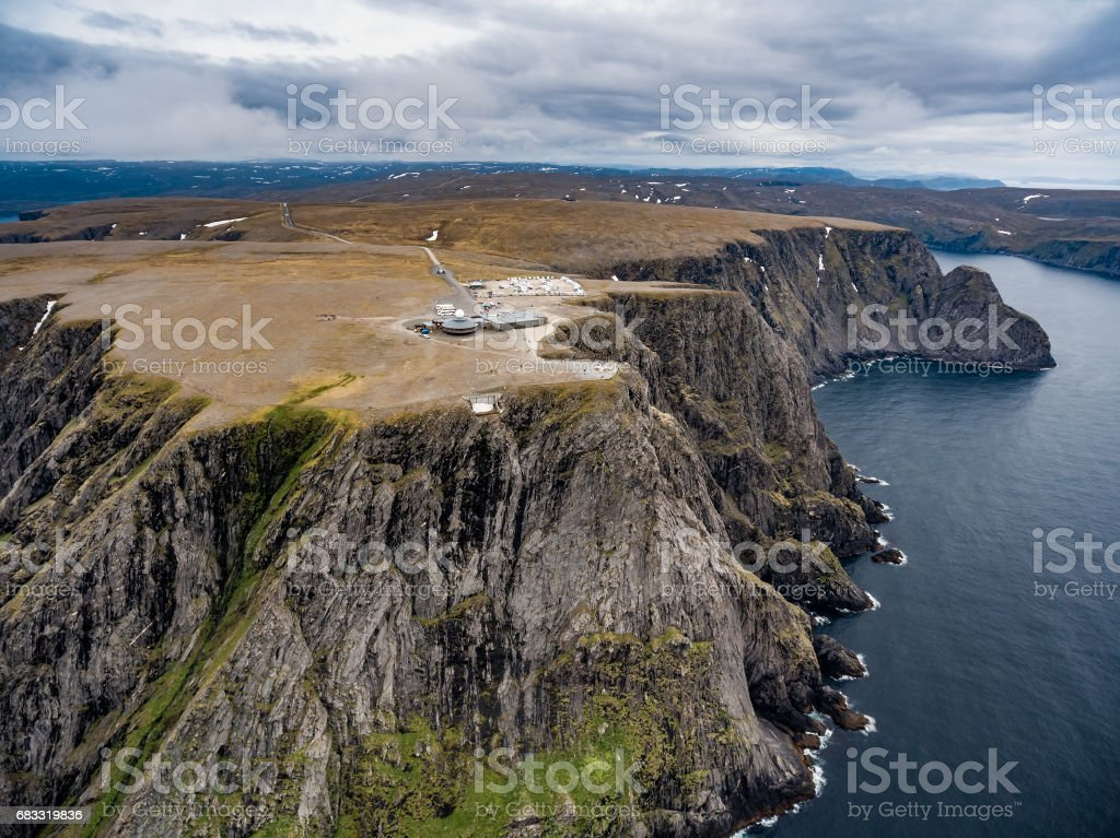 North Cape (Nordkapp) aerial photography, foto stock royalty-free