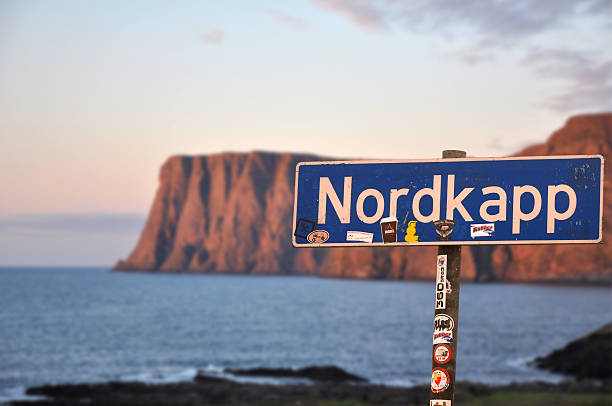north cape norway destination trip, nordkapp - nordkap stock-fotos und bilder