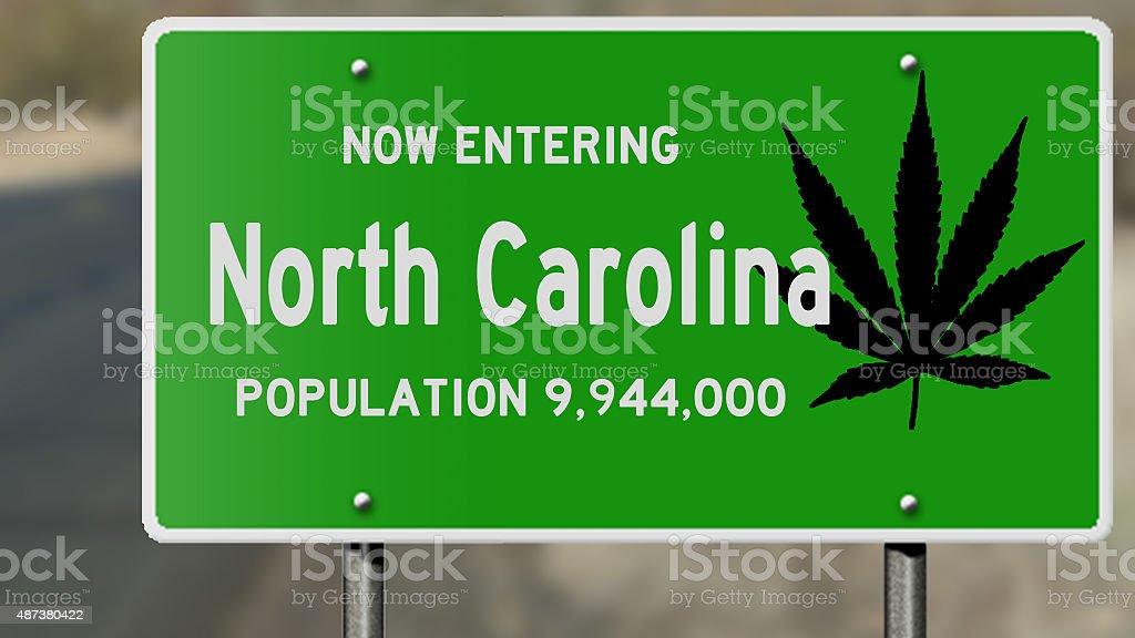North Carolina and marijuana laws stock photo