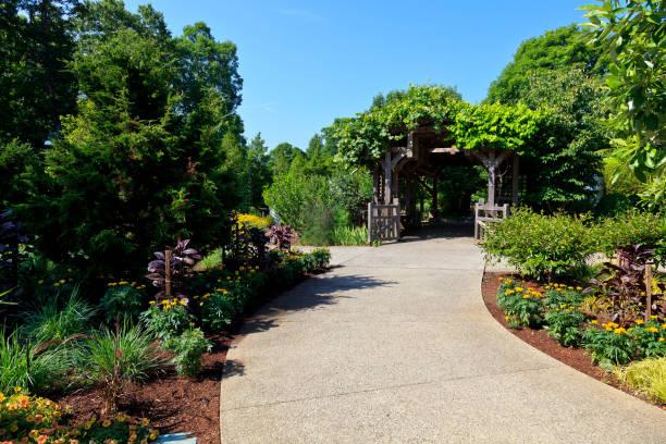 North Carolina Arboretum Garden Entrance in Asheville