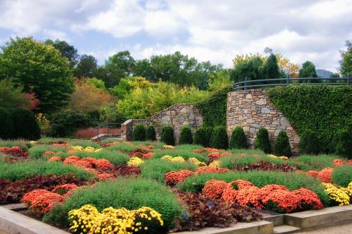 North Carolina Arboretum Quilt Garden in Asheville