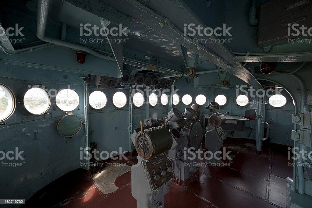 USS North Carolina Bridge stock photo
