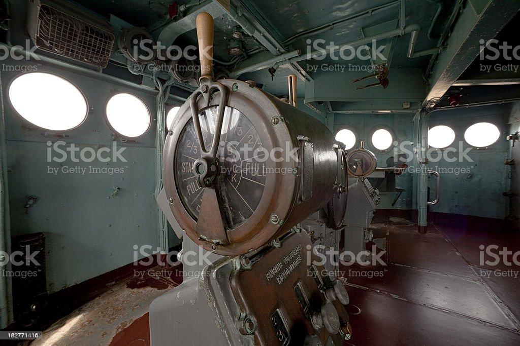 USS North Carolina Bridge royalty-free stock photo