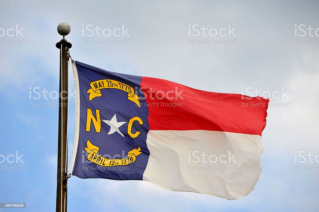 North Carolina Flag stock photo