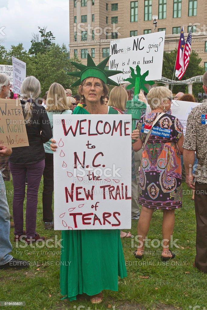 North Carolina Politics Protest stock photo