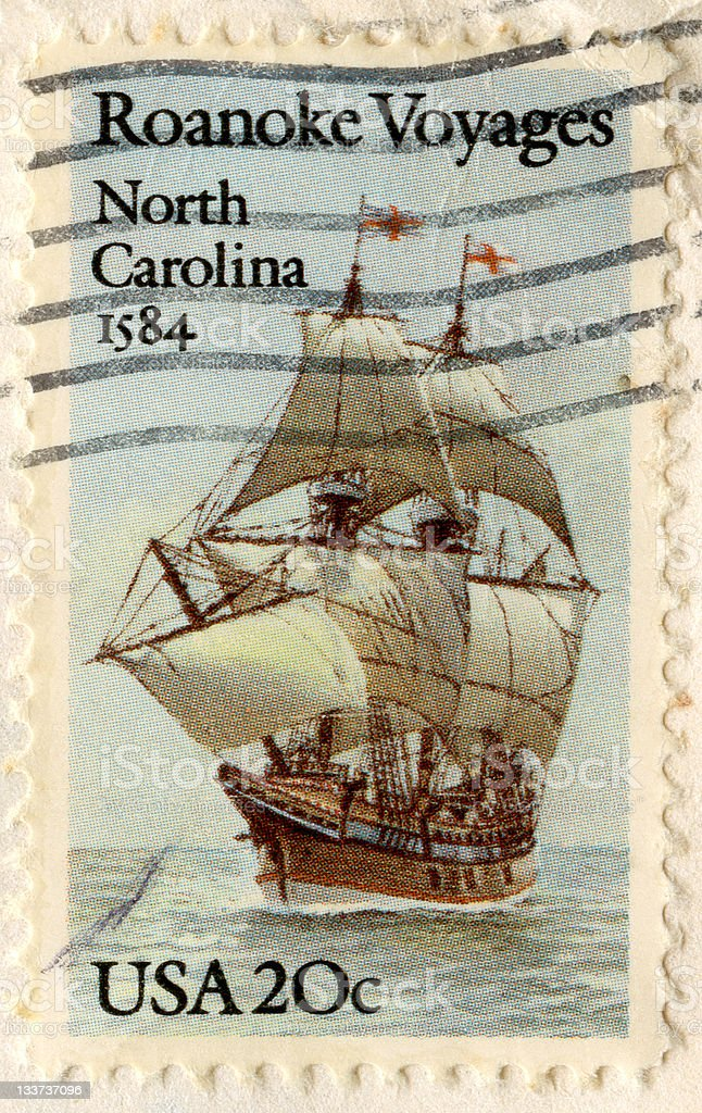 North Carolina Postage Stamp stock photo