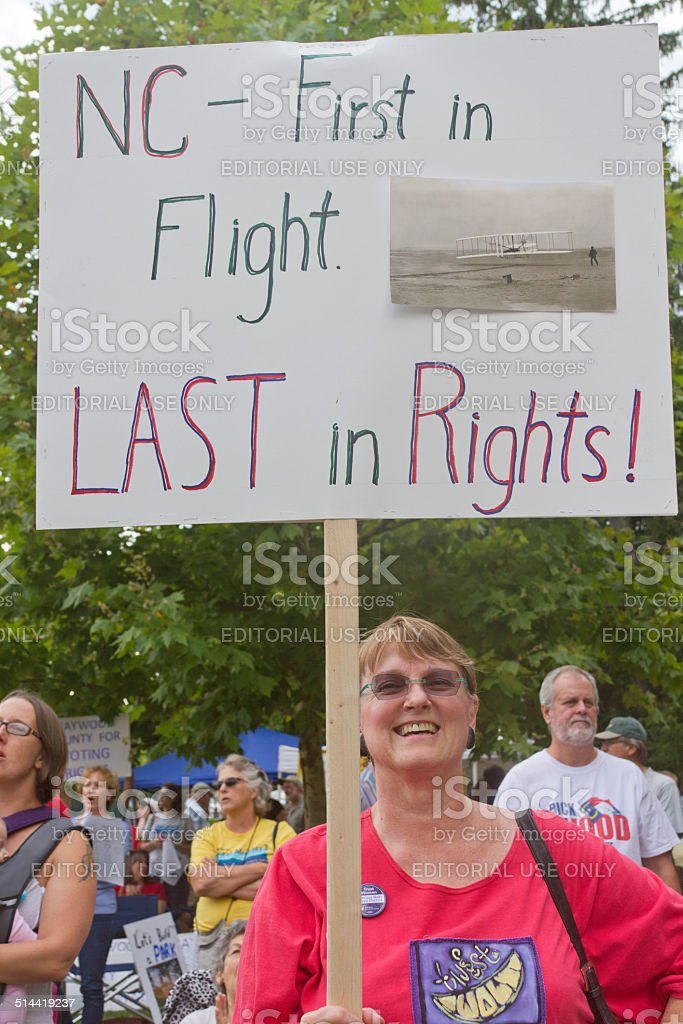 North Carolina Rights Protester stock photo