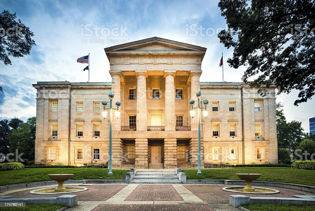 North Carolina State Capitol Raleigh stock photo