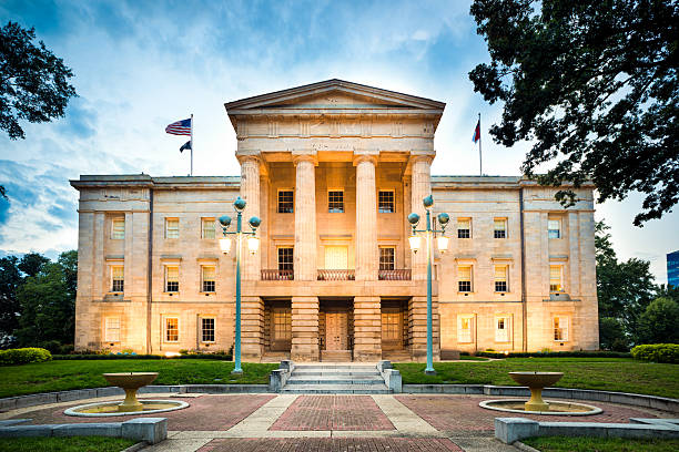 North Carolina State Capitol Raleigh North Carolina State Capitol, Raleigh. USA. state capitol building stock pictures, royalty-free photos & images