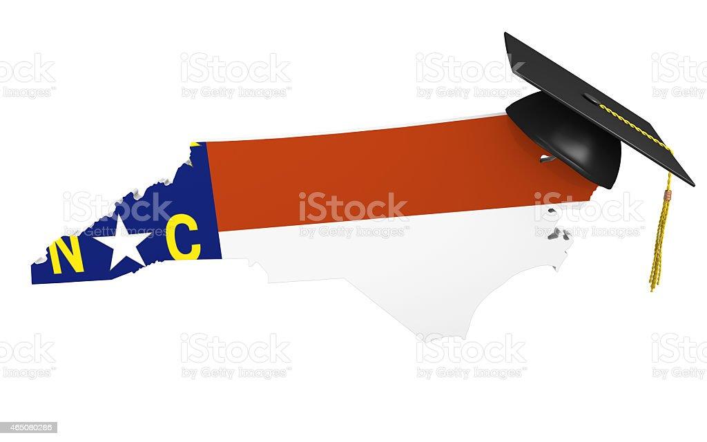 North Carolina state college and university education stock photo