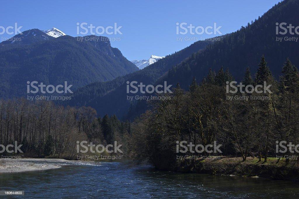 North Cascades Devil Peaks stock photo