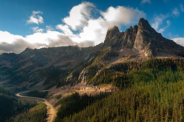 North Cascades Highway stock photo