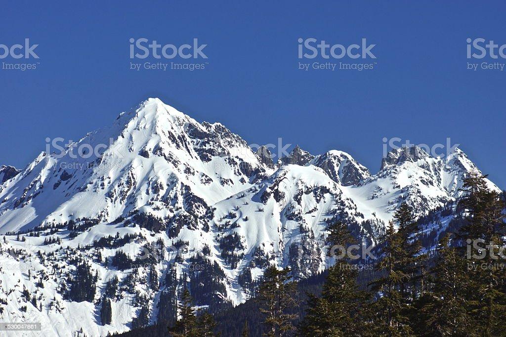 North Cascades Icy Ridge stock photo