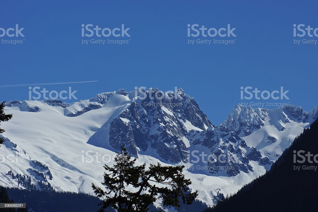 North Cascades Jetstream stock photo