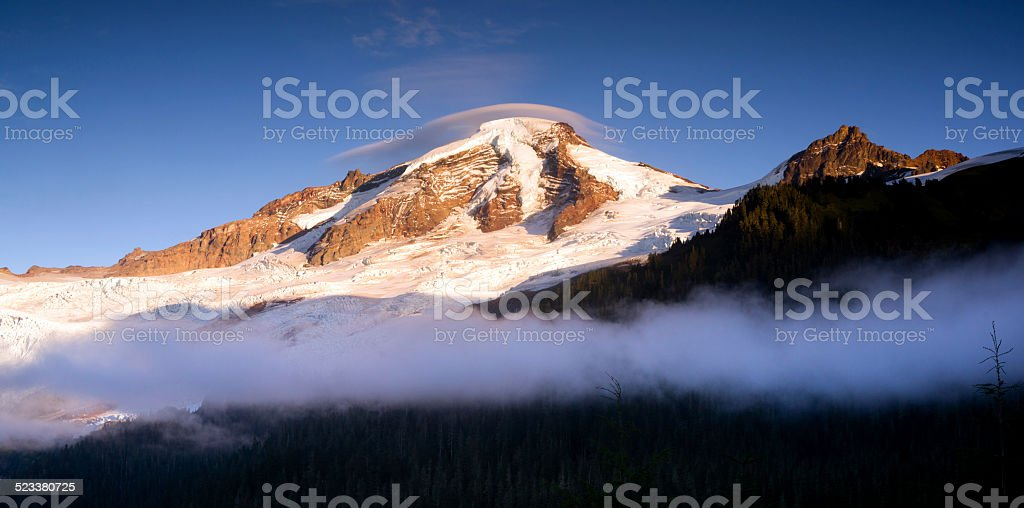 North Cascades Mt. Baker Heliotrope Ridge Glacier Peaks stock photo