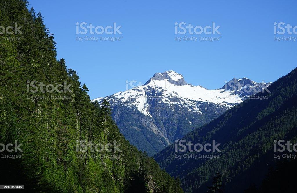 North Cascades Peak stock photo