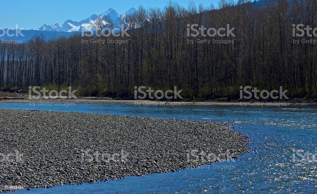 North Cascades River stock photo