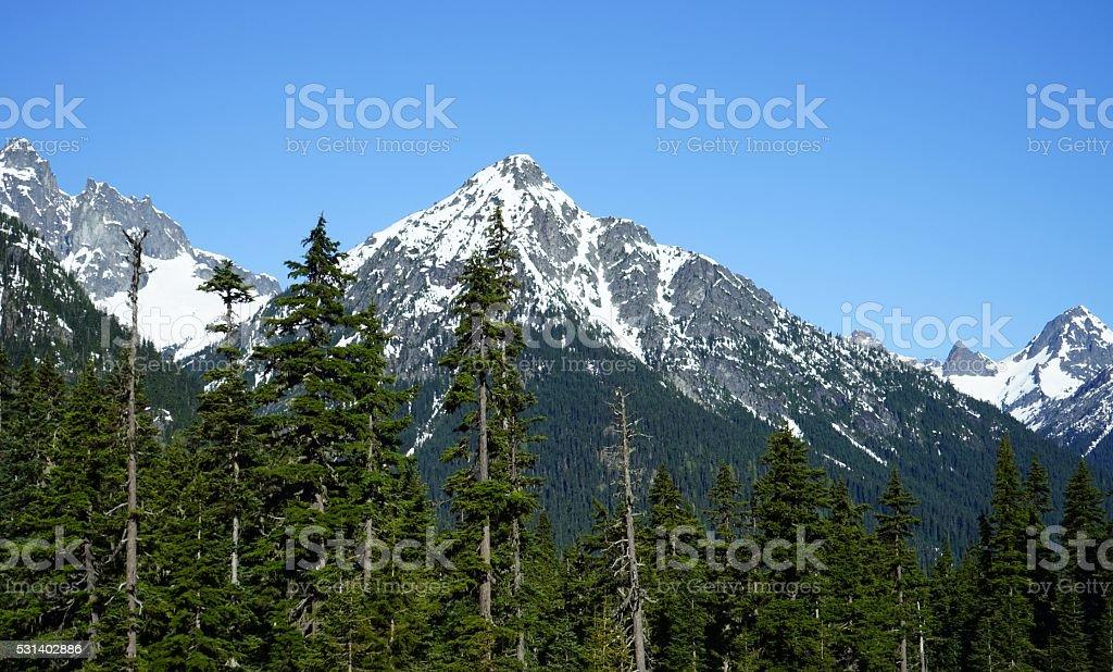 North Cascades Rugged stock photo