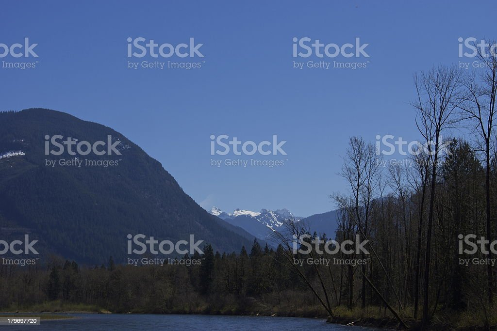 North Cascades Skagit River royalty-free stock photo