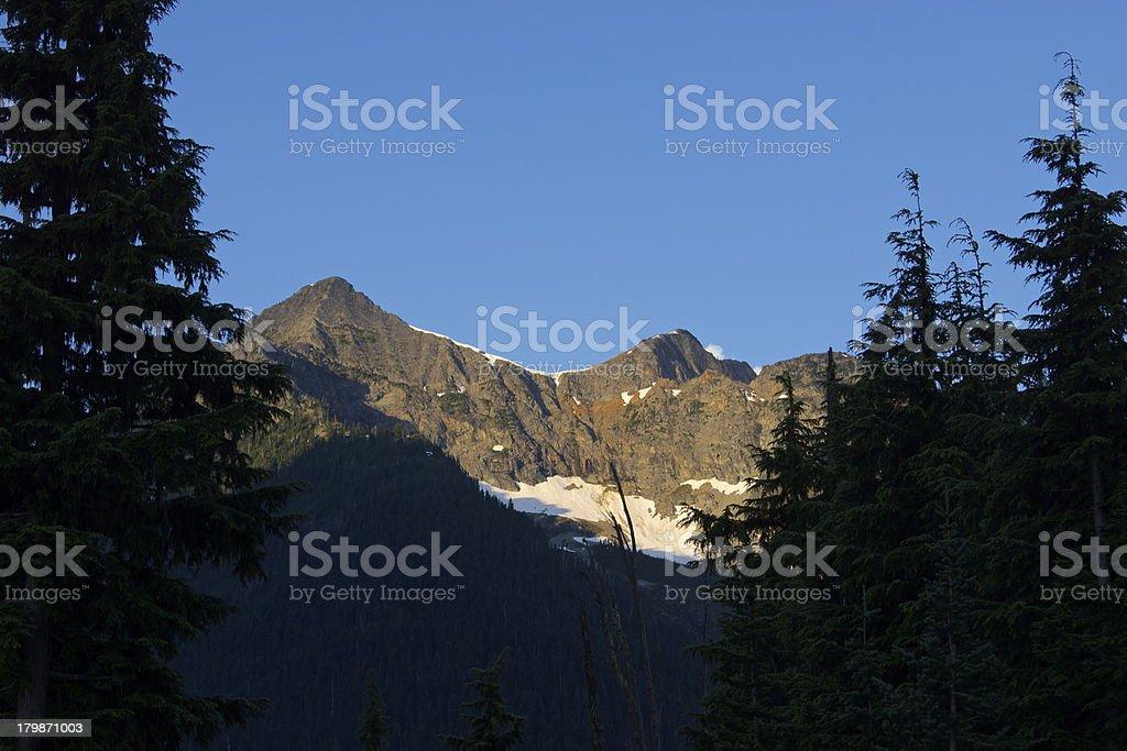 North Cascades Sunrise stock photo