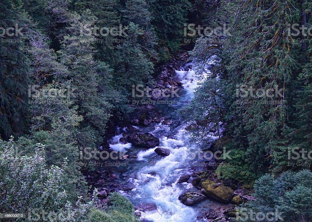 North Cascades Wild River stock photo