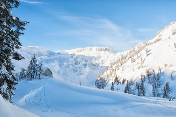 North Cascades Winter stock photo