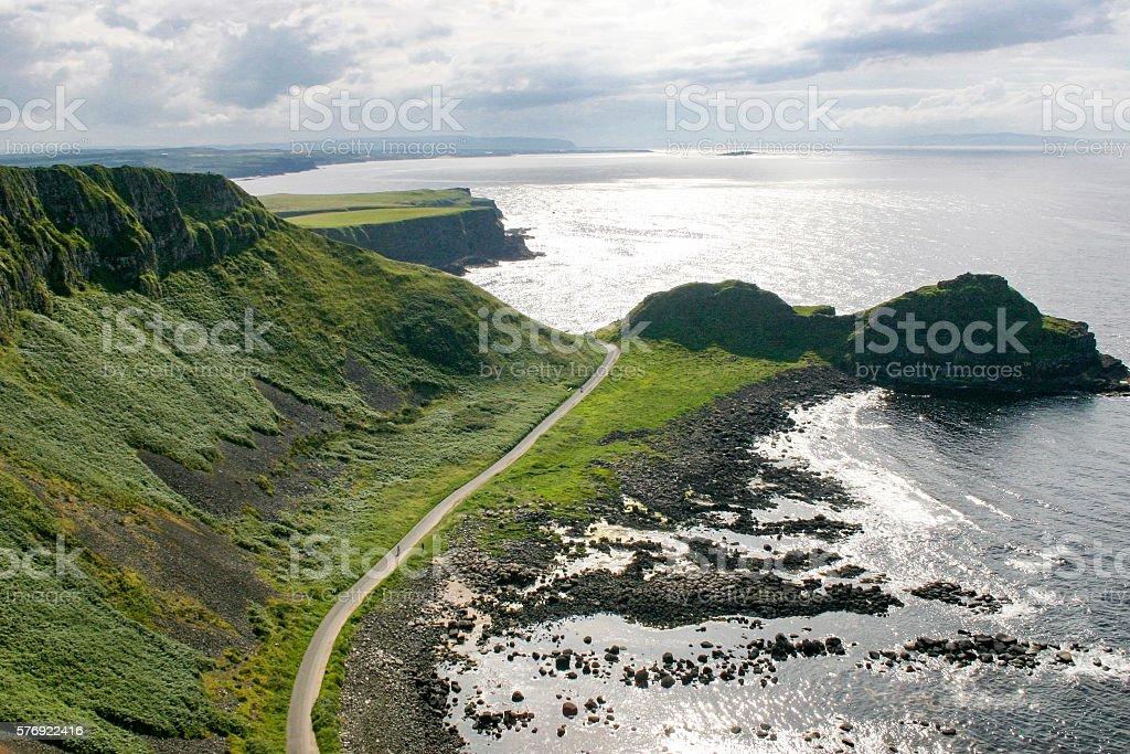 North Causeway Coastline, N Ireland stock photo