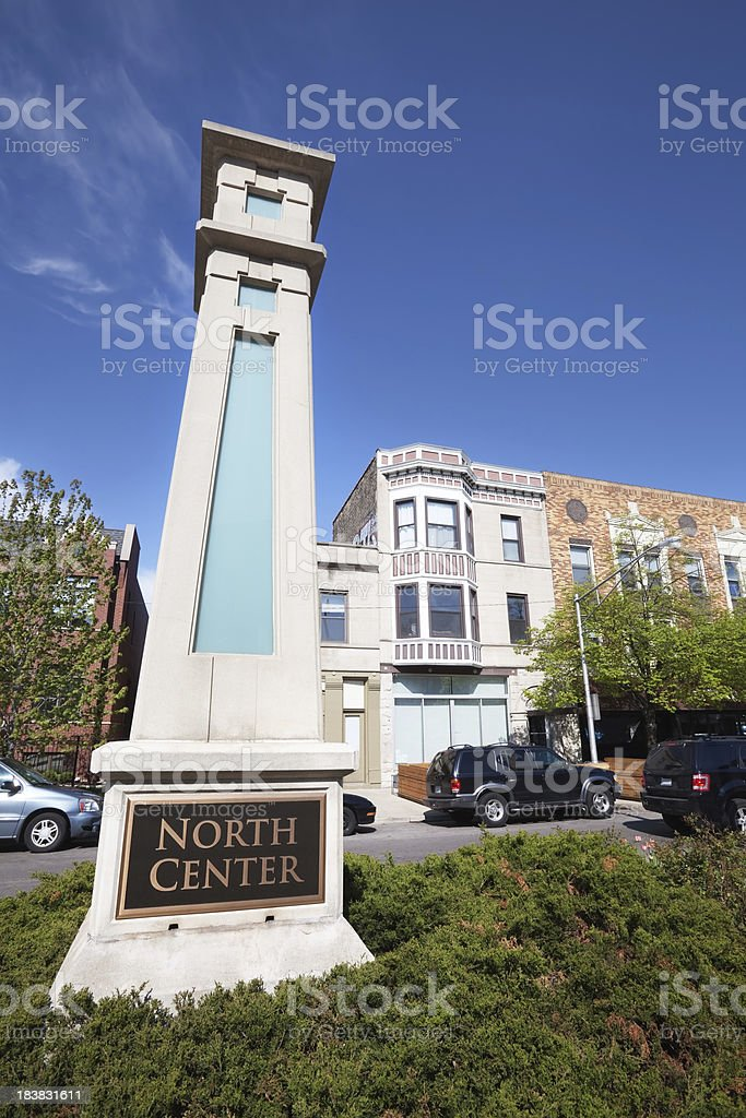 North Center Community Sign royalty-free stock photo