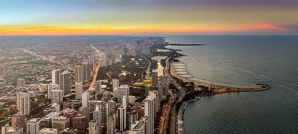 North Chicago Panorama stock photo