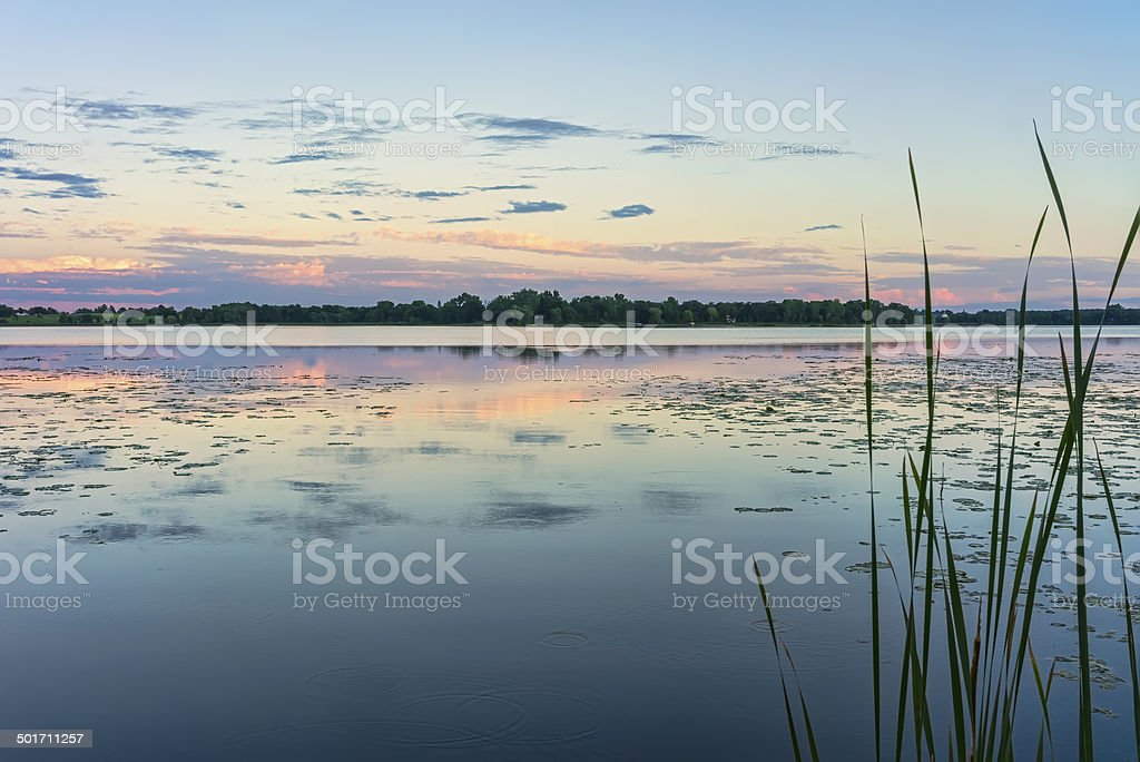 North Country Lake Reflections stock photo