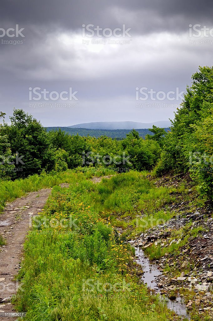 North Country NH OHRV Trail stock photo