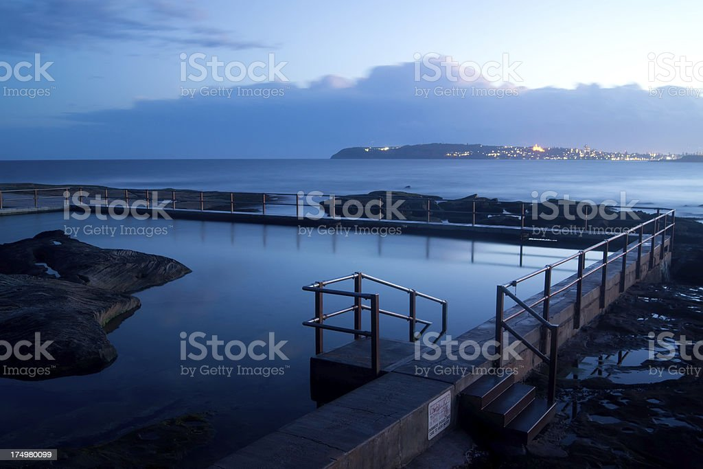 North Curly Ocean Pool stock photo