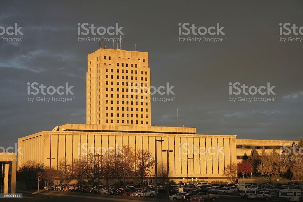 North Dakota Capital and DOT royalty-free stock photo