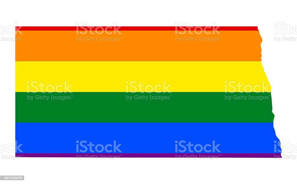 North Dakota Gay Pride State stock photo