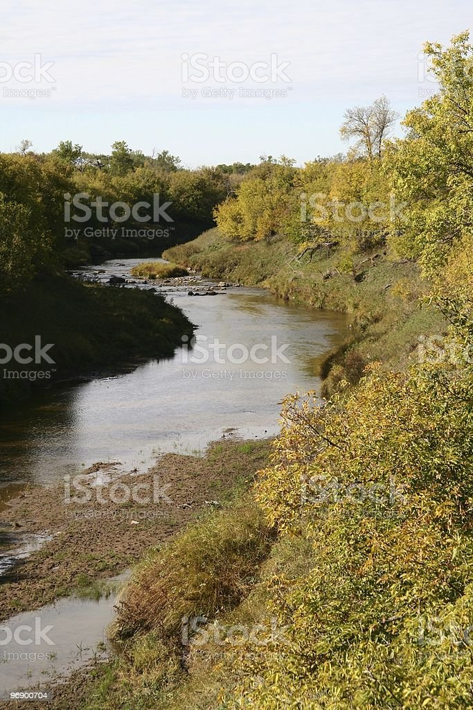 North Dakota Knife River in Fall royalty-free stock photo