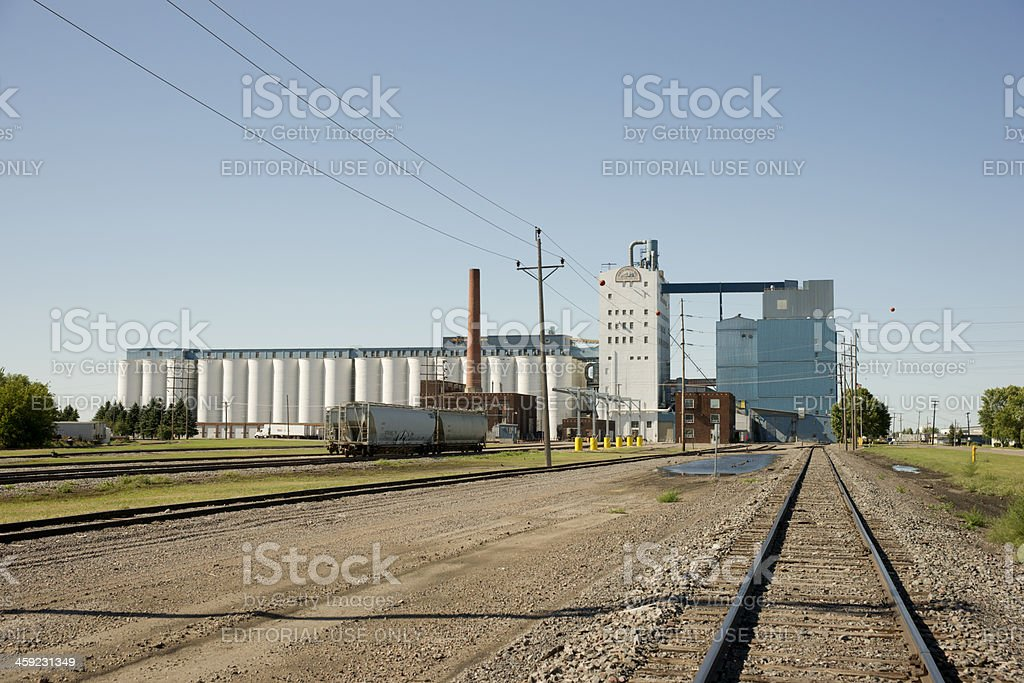 North Dakota Mill and Elevator royalty-free stock photo
