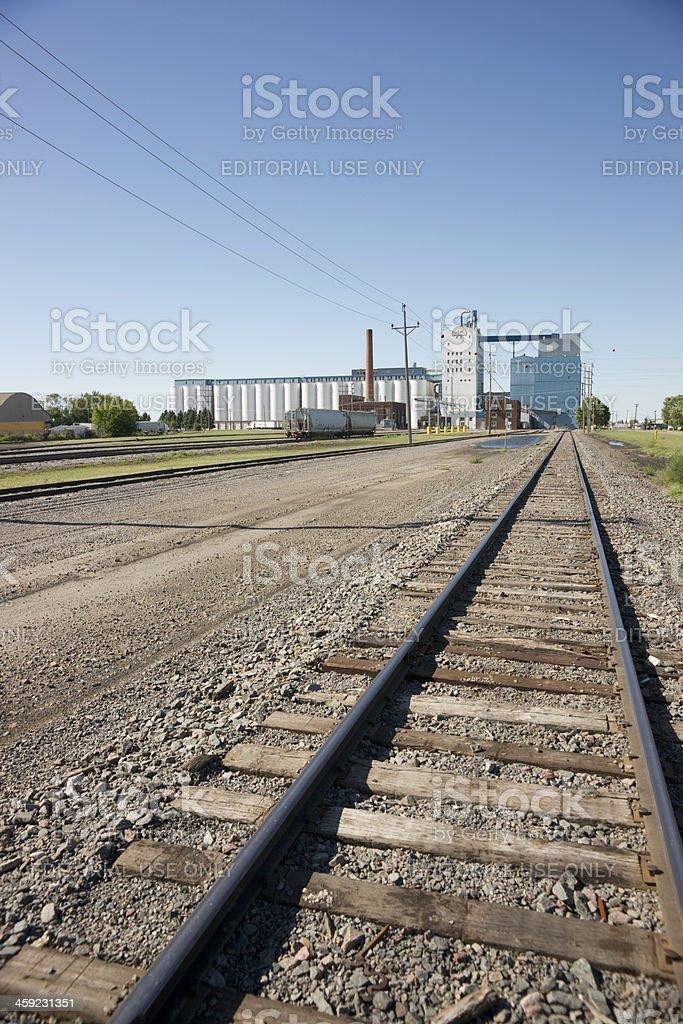 North Dakota Mill and Elevator royalty-free stock photo