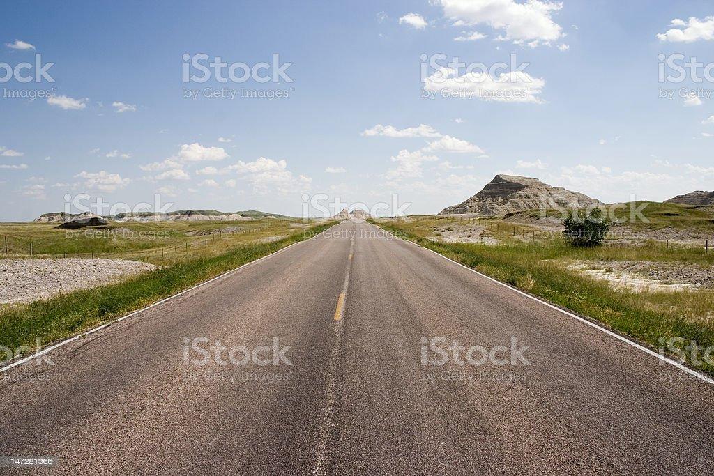 North Dakota Road royalty-free stock photo